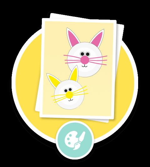 Paper Rabbit Plate