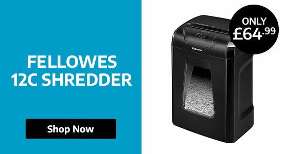 Fellowes 12C Shredder Better Than Half Price