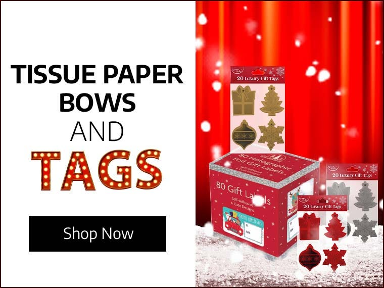 Tissue Paper, Bows & Tags