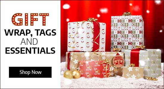 Gift Wrap, Tags & Essentials