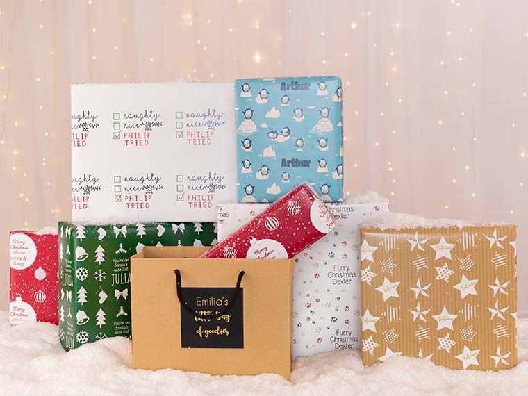 Personalised Wrapping paper & Gift Bags