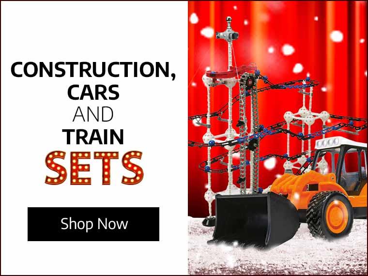 Construction, Cars & Train Sets