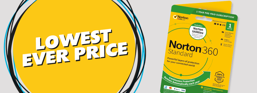 Lowest Ever Price on Norton 360