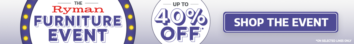Save Up To 40% on Furniture