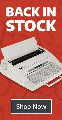 Typewriters back in stock