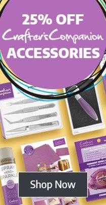 Save 25% on Crafters Companion Accessories