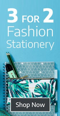 Shop 3 for 2 on Fashion Stationery